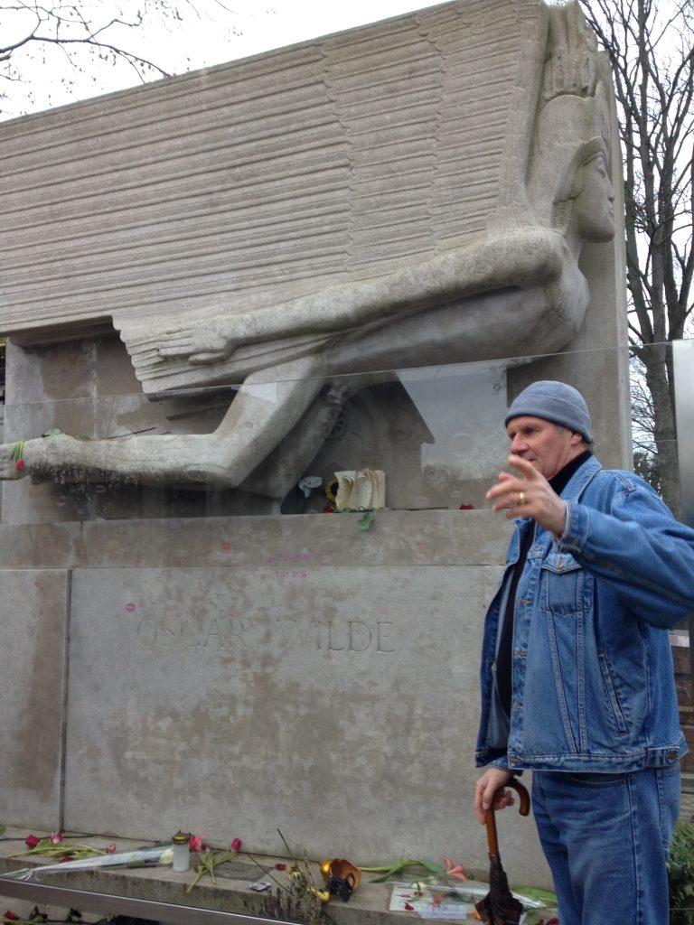 Tombe Oscar Wilde au Père Lachaise