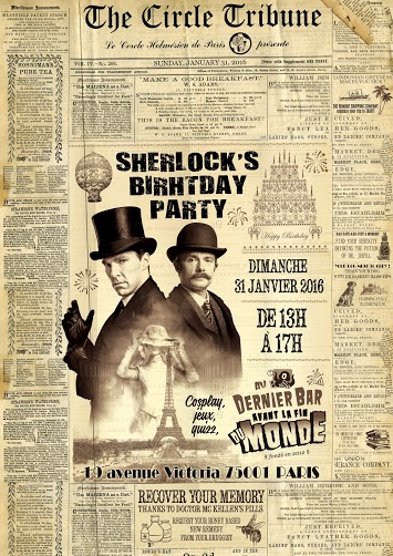 Sherlock Birthday Party Le Cercle Holmésien de Paris